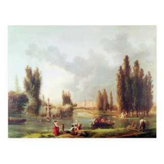 The Park and Chateau at Mereville Postcard