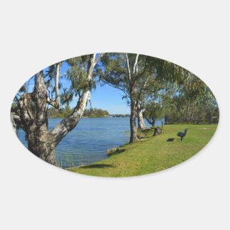 The Park Bench, Berri, South Australia, Oval Sticker