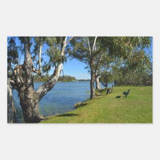 The Park Bench, Berri, South Australia, Rectangular Sticker