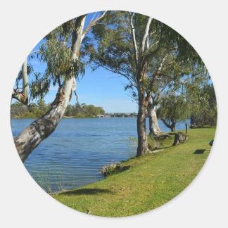 The Park Bench, Berri, South Australia, Round Sticker