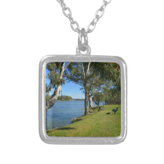 The Park Bench, Berri, South Australia, Silver Plated Necklace