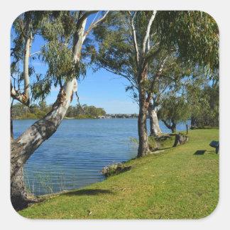 The Park Bench, Berri, South Australia, Square Sticker