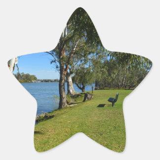 The Park Bench, Berri, South Australia, Star Sticker