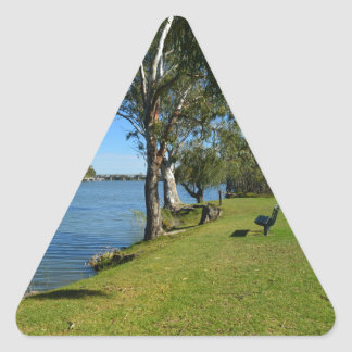 The Park Bench, Berri, South Australia, Triangle Sticker