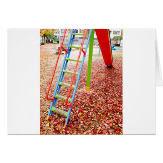 The park slide vivid color taste which takes on card