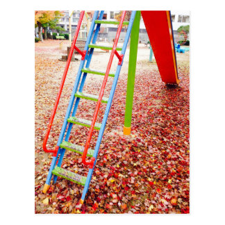 The park slide vivid color taste which takes on postcard