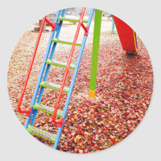 The park slide vivid color taste which takes on round sticker