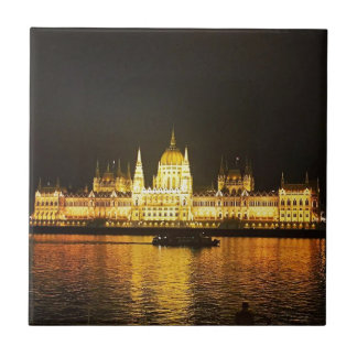The Parlement Building Budapest Small Square Tile