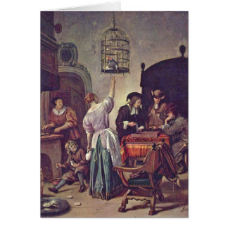 The Parrot Cage By Jan Steen Card