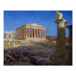 The Parthenon 1871 Frederic Church edited Poster