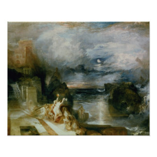 The Parting of Hero and Leander (oil on canvas) Print