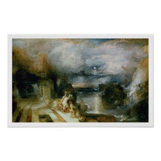 The Parting of Hero and Leander (oil on canvas) Poster