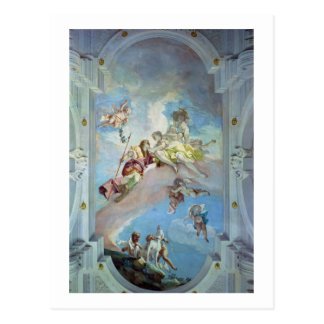 The Parting of Venus from Adonis, 1707-08 (fresco) Postcard