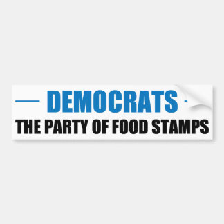 The Party of Food Stamps Car Bumper Sticker