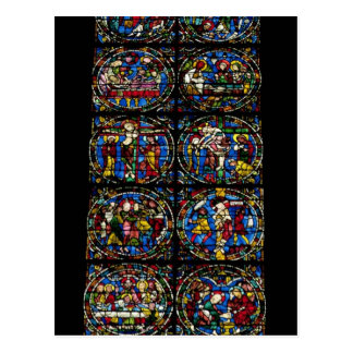 The Passion, lancet window in the west facade, 12t Postcard