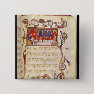 The Passover Meal, Northern Spain 15 Cm Square Badge