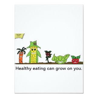 "The Patch, Organics Card 4.25"" X 5.5"" Invitation Card"