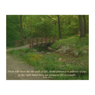 The Path of Life Inspirational Photography on Wood Wood Wall Art