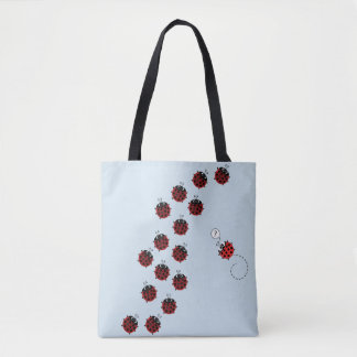 The Path of Spring in light blue Tote Bag