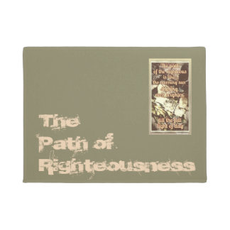 The Path of the Righteous door mat