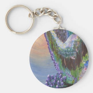 The Path to Heaven Basic Round Button Key Ring