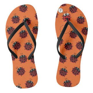 The Path to Spring - Orange fever Thongs