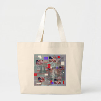 The Patriotic Symbols Canvas Bags