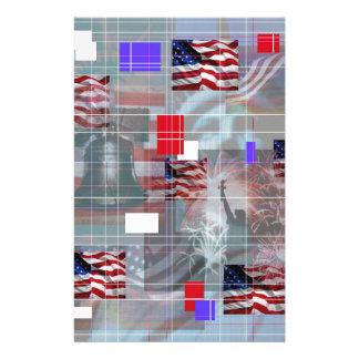 The Patriotic Symbols. Custom Stationery