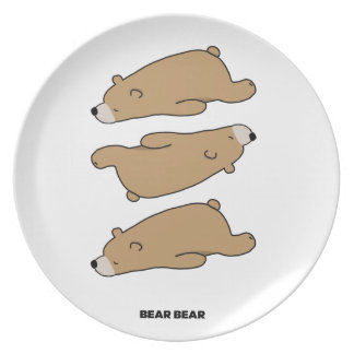 THE PATTERN - BEAR BEAR PLATE