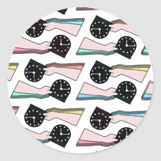 THE PATTERN - TIME CLASSIC ROUND STICKER