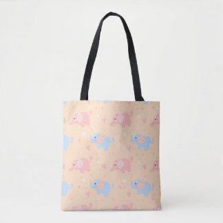 The Patterned Ear Elephant Tote Bag