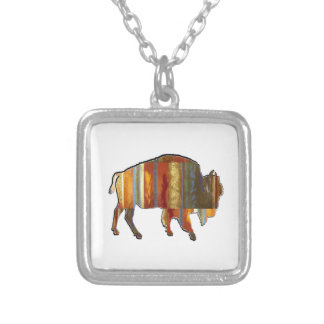 THE PATTERNS SHOWN SILVER PLATED NECKLACE