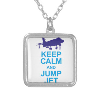 The pays to combat pilots silver plated necklace