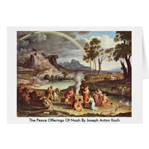 The Peace Offerings Of Noah By Joseph Anton Koch Cards