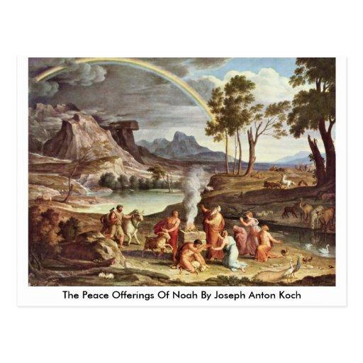 The Peace Offerings Of Noah By Joseph Anton Koch Postcards