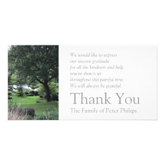 The peaceful Garden 6 Sympathy Thank You 2 Picture Card