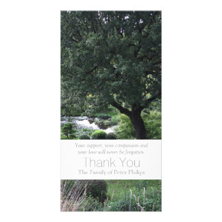 The peaceful Garden 6 Sympathy Thank You 3 Personalized Photo Card