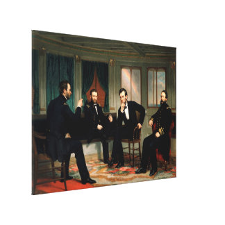 The Peacemakers by George Peter Alexander Healy Canvas Print