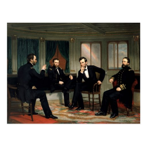 The Peacemakers with Abraham Lincoln Postcard