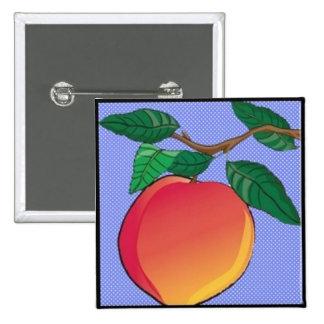 The Peach 15 Cm Square Badge