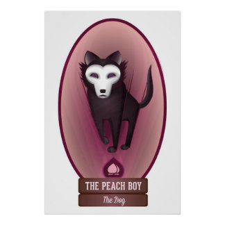The Peach Boy: Dog (Large) Poster