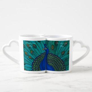 The Peacock Coffee Mug Set