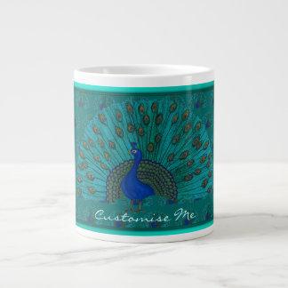 The Peacock Large Coffee Mug