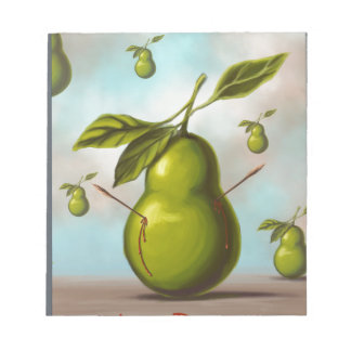 The pear notepad