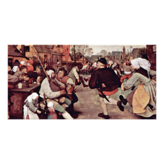 The Peasant Dance By 0 (Best Quality) Personalized Photo Card