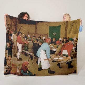 The Peasant Wedding by Pieter Bruegel the Elder Fleece Blanket