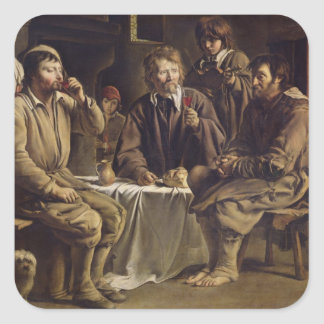 The Peasant's Meal, 1642 Square Sticker