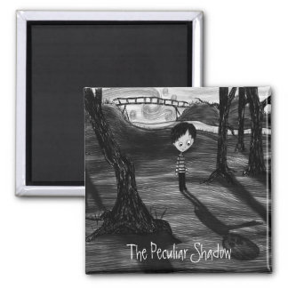 'The Peculiar Shadow' Square Magnet