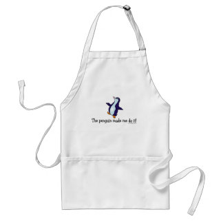 The Penguin Made Me Do it! Standard Apron