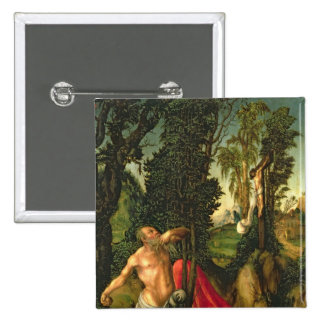 The Penitence of St. Jerome, 1502 15 Cm Square Badge